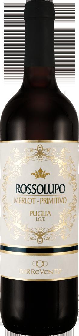 Rotwein Torrevento Merlot-Primitivo Rossolupo Puglia IGT Apulien 13,32? pro l