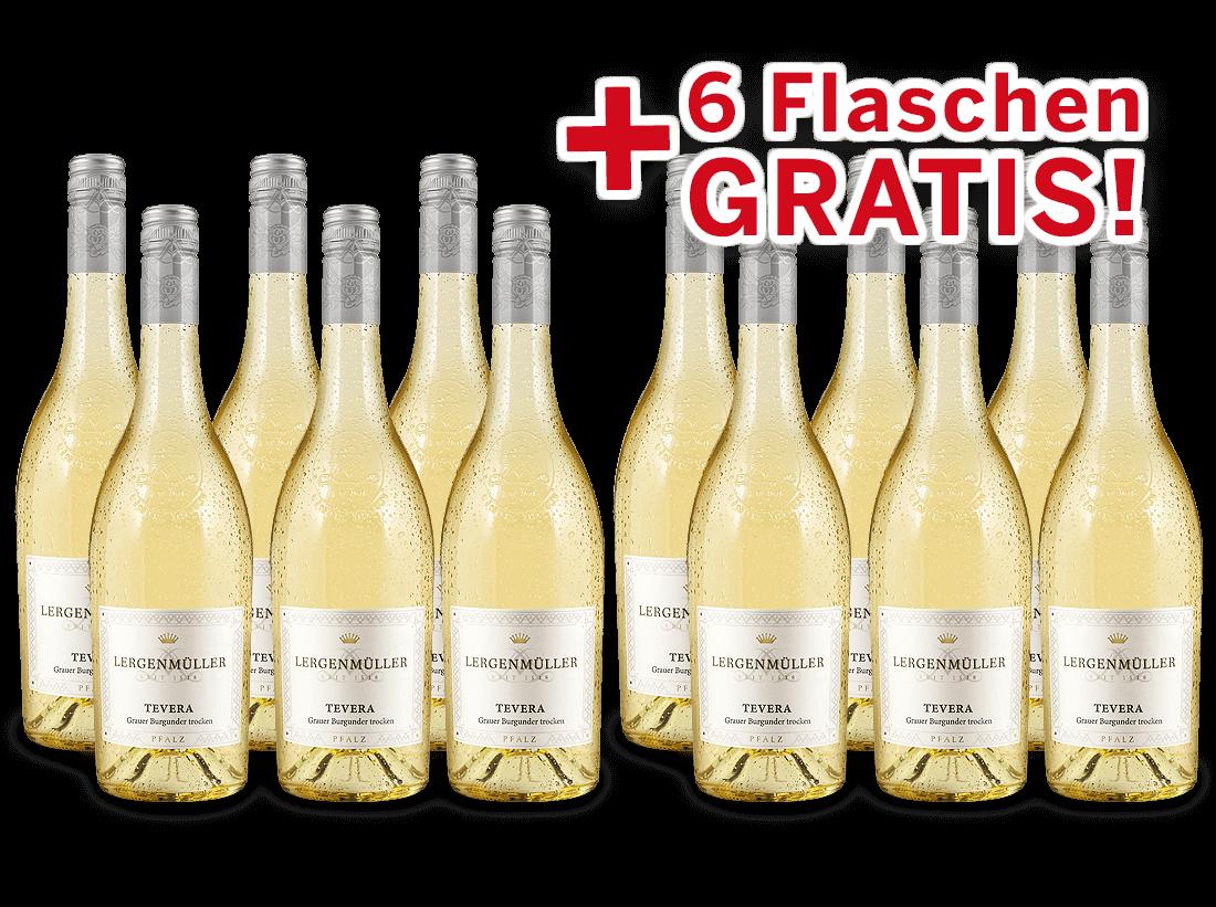 Vorteilspaket 12 für 6 Lergenmüller Grauburgunder TEVERA8,89? pro l