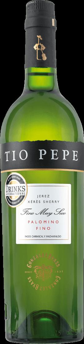 Weißwein González Byass Tío Pepe Sherry Palomino Fino 15% vol. Jerez 13,19? pro l