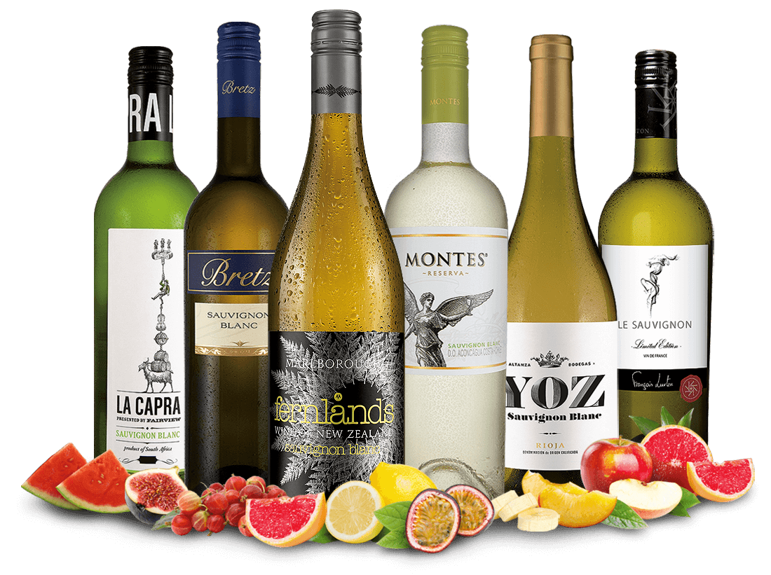 Sauvignon Blanc ´´Weltreise´´ Weinpaket9,55€ pro l
