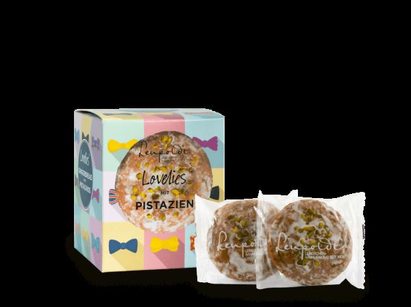 Leupoldt Lebkuchenmanufaktur Premium Lebkuchen mit Pistazien 'Weihnachtsmann' 150 g