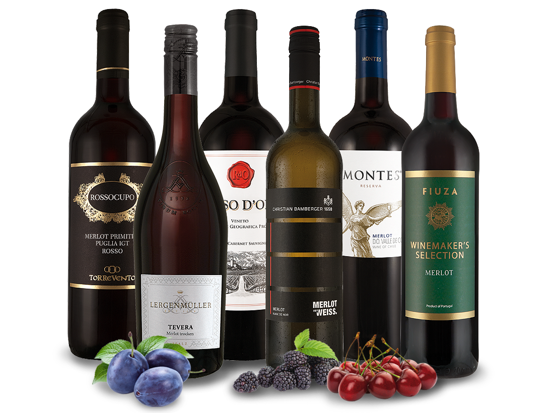 Das große Merlot Weinpaket8,89€ pro l