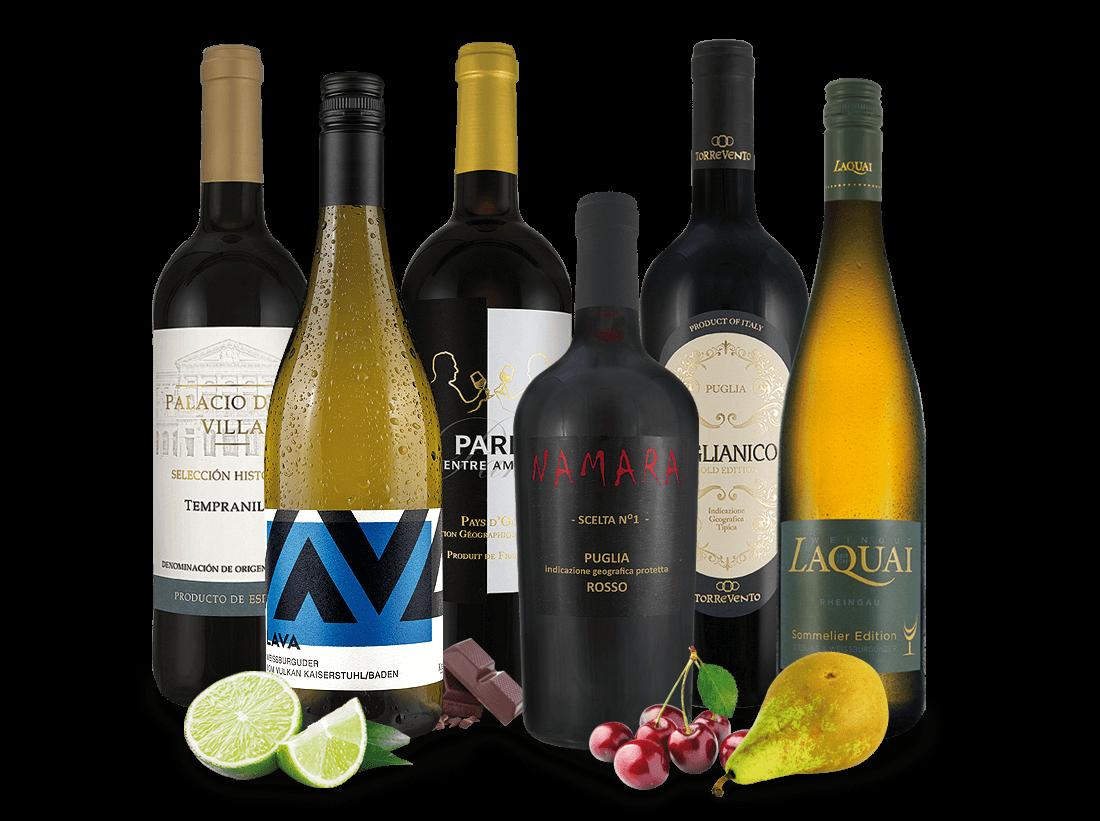 Unsere neuen Sommerweine mit 6 Flaschen8,89? pro l