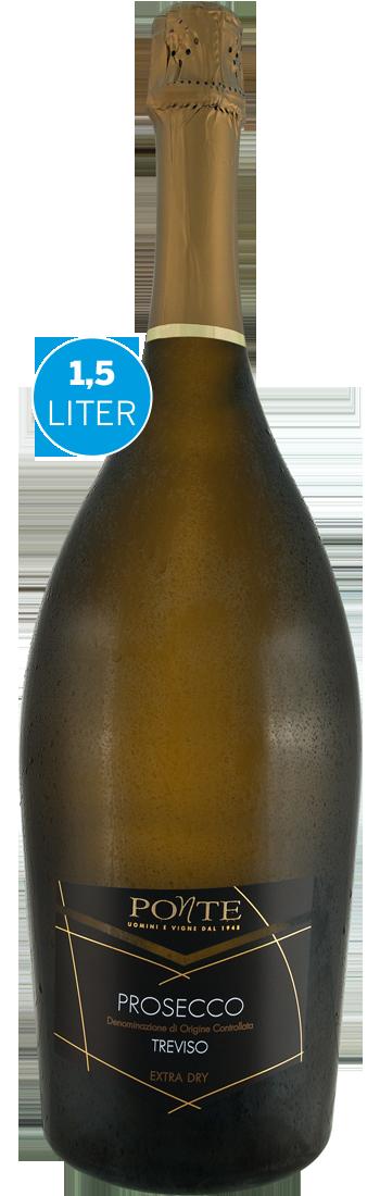Weißwein Viticoltori Ponte Prosecco Spumante Extra Dry DOC 1,5l Venetien 13,33? pro l