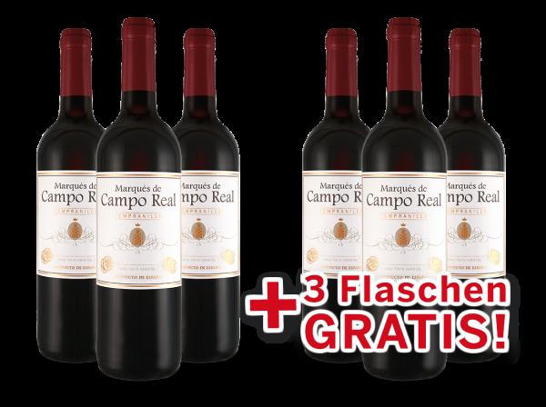 Vorteilspaket 6 für 3 Tempranillo Marqués de Campo Real