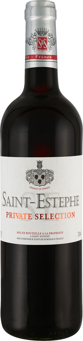 Rotwein Schröder & Schÿler Saint-Estèphe Private Selection AOC Origine Grand Vin Bordeaux 23,99? pro l