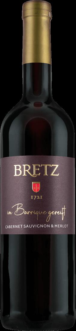 Rotwein Ernst Bretz Cabernet Sauvignon & Merlot Barrique Bechtolsheimer Petersberg Rheinhessen 17,20? pro l