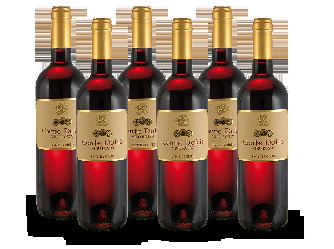 Vorteilsweinpaket 6 Flaschen Conte Dulcis9,98? pro l