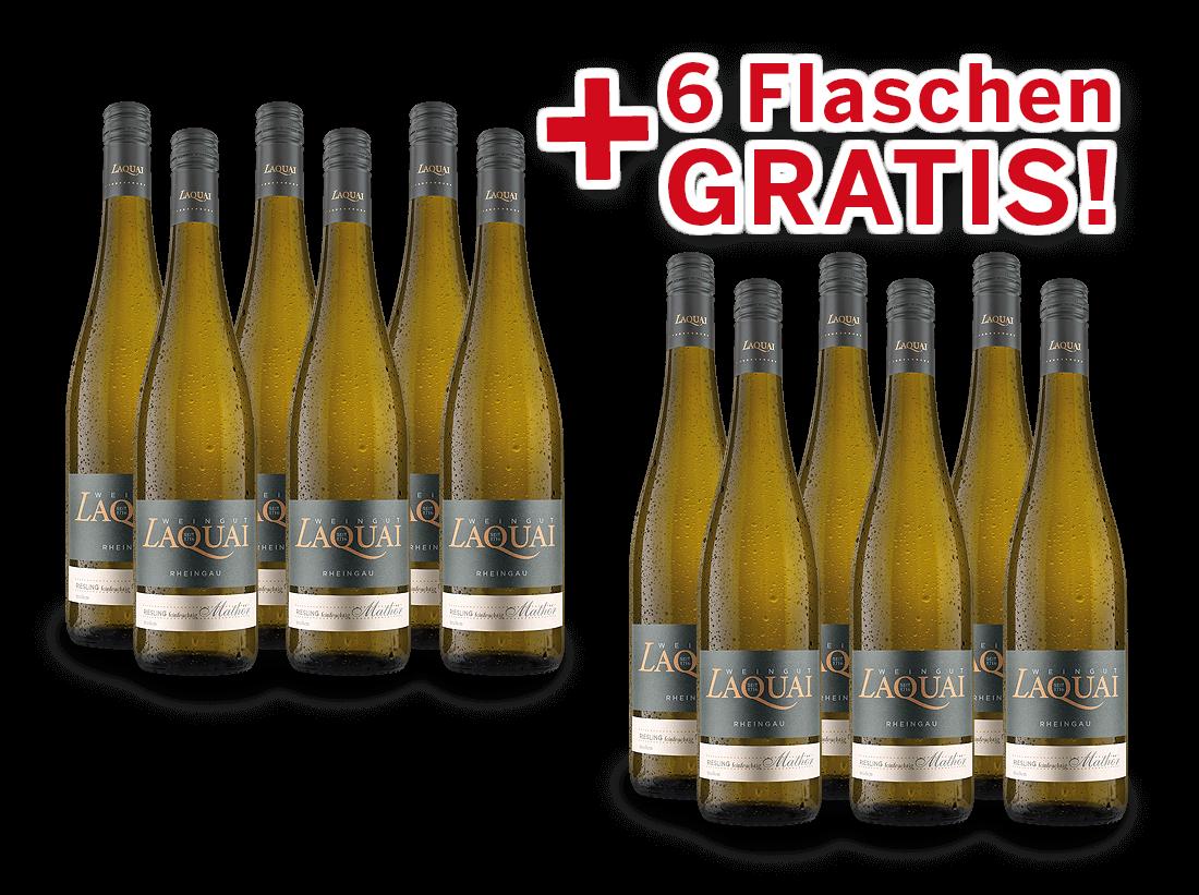 Vorteilspaket 12 für 6 Laquai Riesling Mathör feinfruchtig10,33? pro l