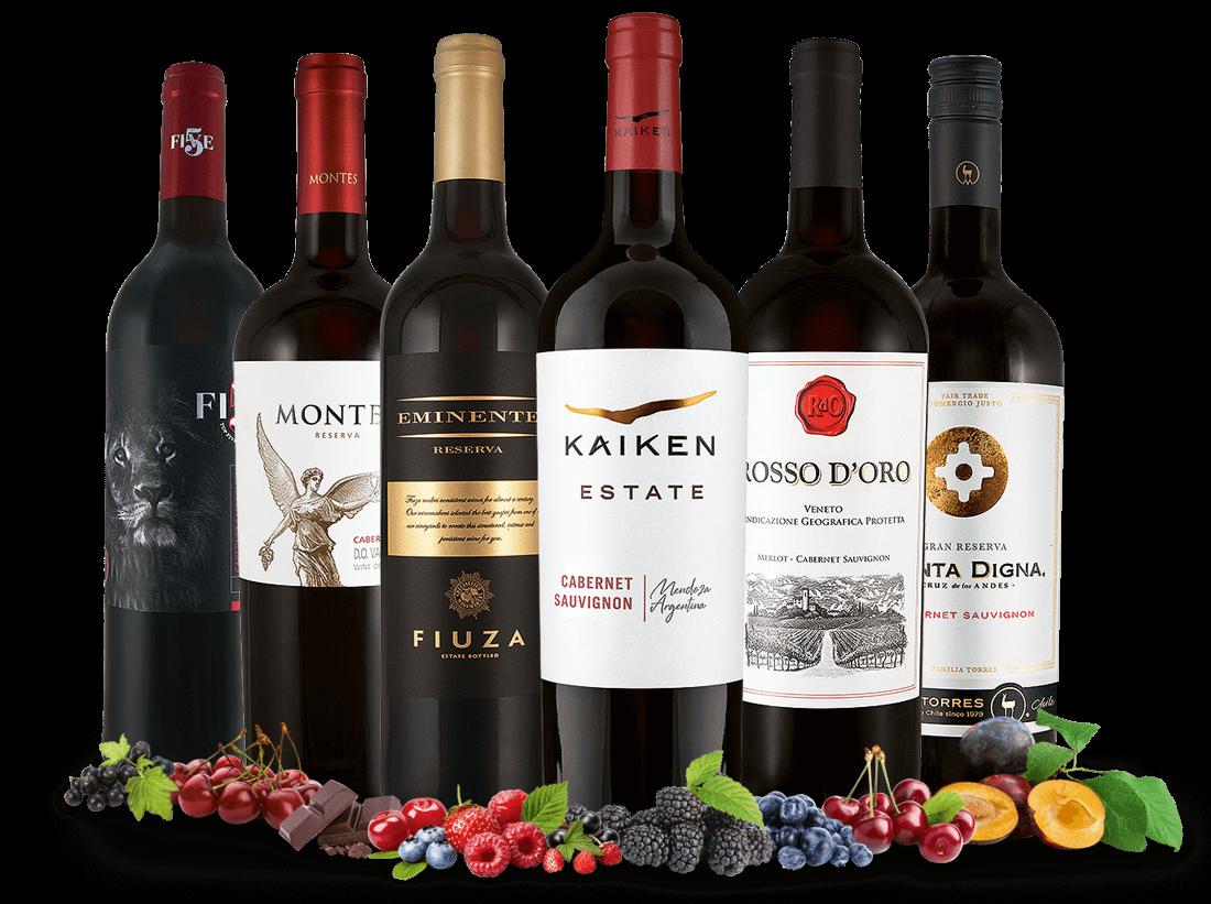 Cabernet Sauvignon ´´Weltreise´´ Wein-Probierpaket9,98? pro l