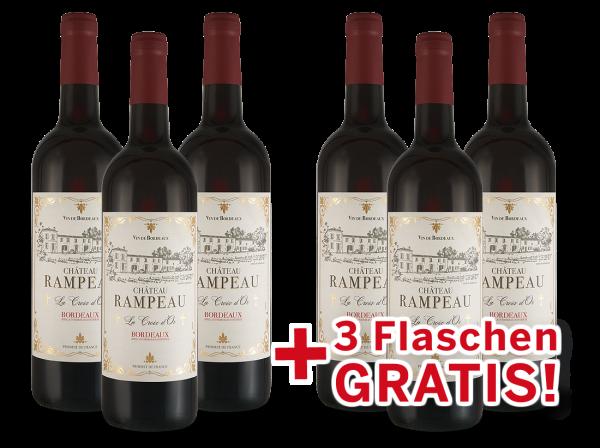 Vorteilspaket 6 für 3 Château Rampeau « La Croix d'Or » Bordeaux