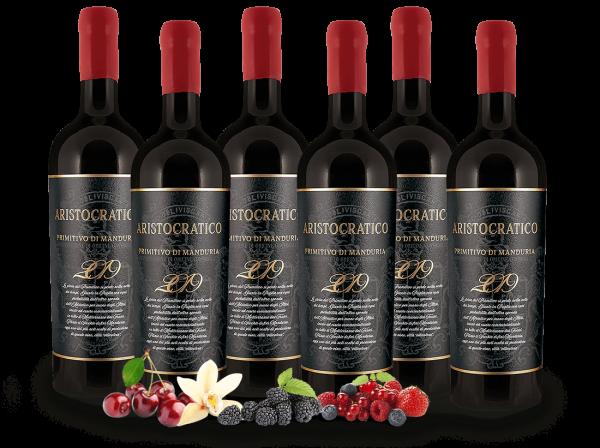 Vorteilspaket 6 Flaschen Primitivo di Manduria ARISTOCRATICO
