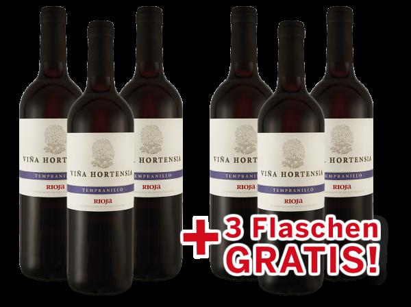 Vorteilspaket 6 für 3 Viña Hortensia Rioja Tempranillo Preferido Tinto