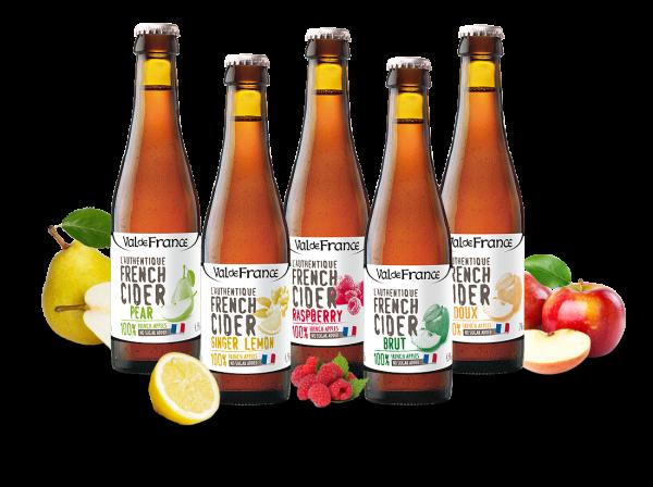 Probierpaket Les Celliers Associés französischer Cidre in 0,33l-Flaschen