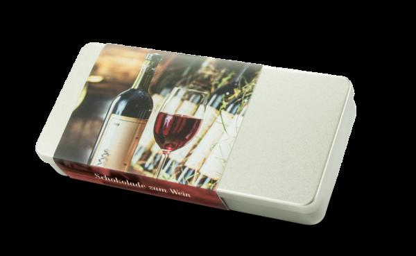 DreiMeister Schokodublonen zum Wein in Silberdose 48 g