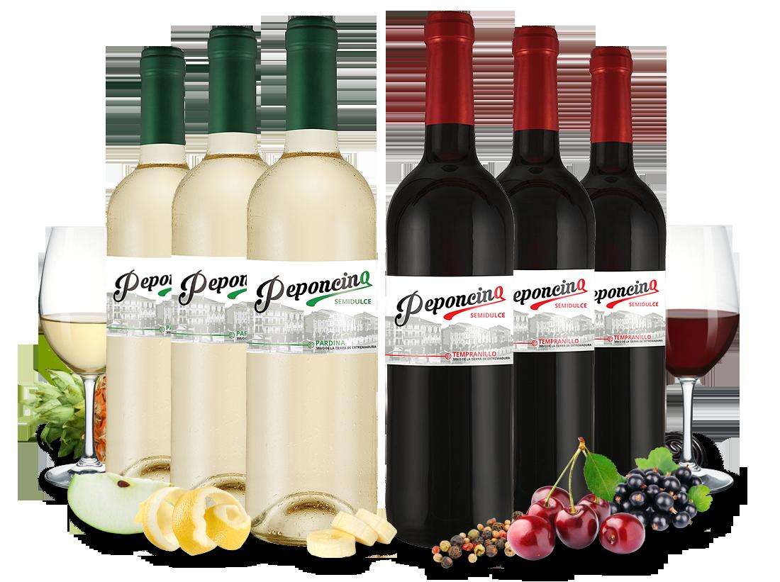 Kennenlernpaket Peponcino Tinto & Blanco semidulce5,55€ pro l
