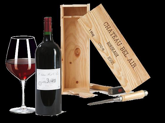 Château Bel Air Bordeaux Magnum in Holzkiste