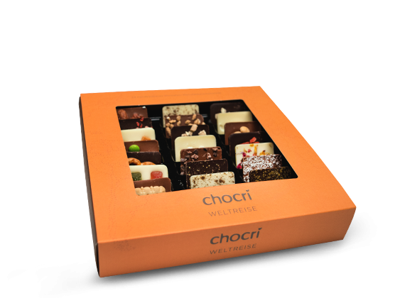chocri 'Weltreise' Mini-Schokoladen-Tafeln 165g