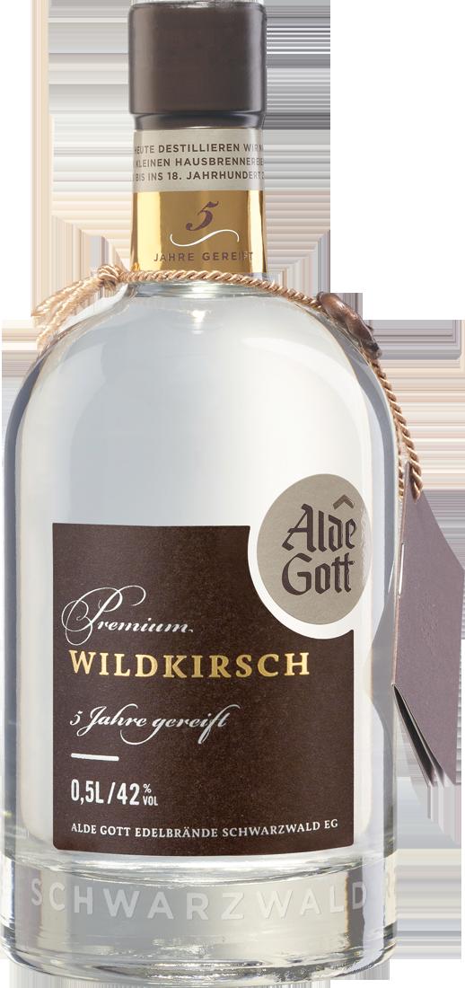 Alde Gott Edelbrand Premium Wildkirsch 5 Jahre gereift 42% vol. 0,5l Baden 41,80€ pro l