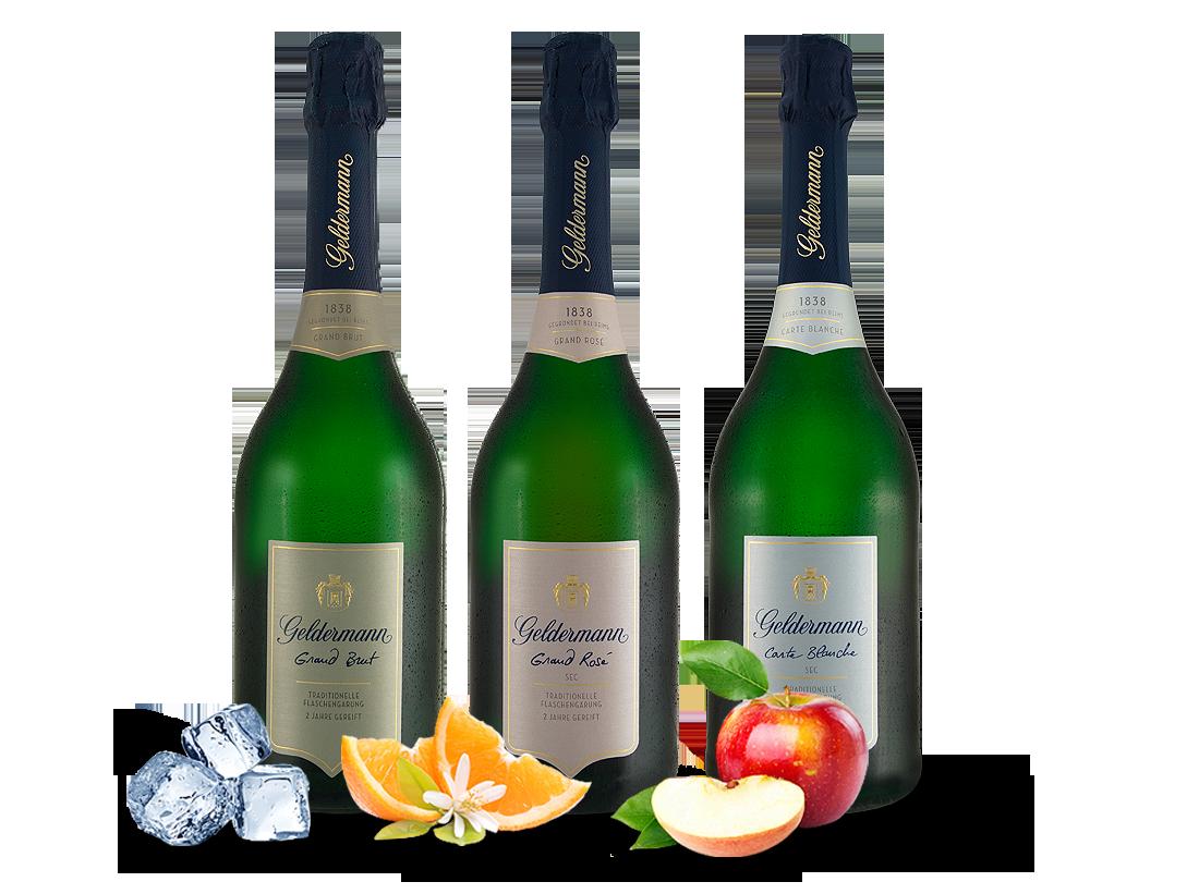 Geldermann Sekt Probierpaket ´´Les Grands´´ 3 Flaschen14,62? pro l