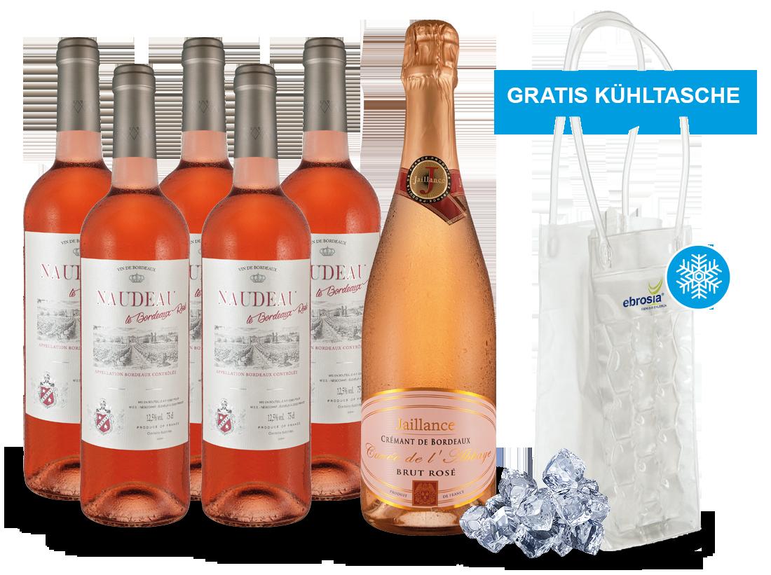 Rosé-Genuss aus Bordeaux und gratis Cooling Bag8,89? pro l