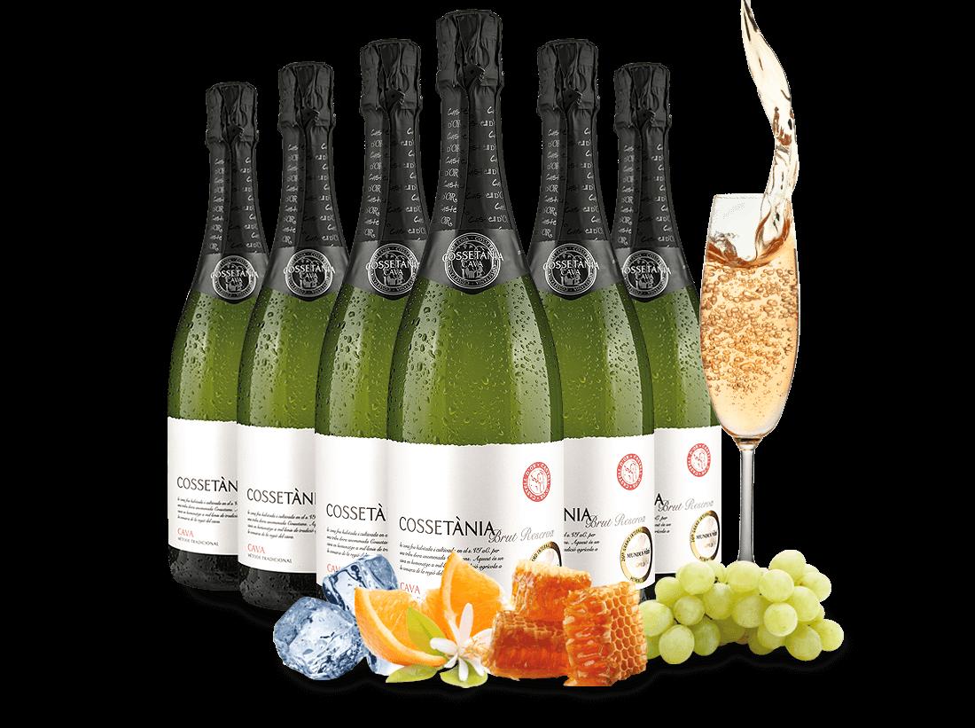 Verschiedene Probierpaket 6 Flaschen Cava Cossetània Brut Reserva8,89€ pro l