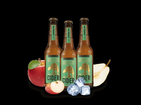 Vorteilspaket Manufaktur Jörg Geiger WiesenObst Cider alkoholfrei 3 Flaschen je 0,33l