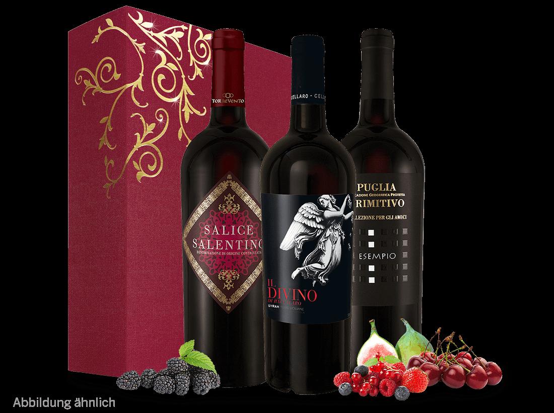 Rotwein Italienisches Weingeschenk - Italienische Klassiker Apulien, Sizilien, Toskana 13,29? pro l