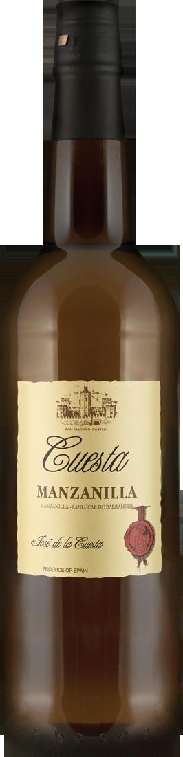 Weißwein Bodegas José de la Cuesta Sherry Manzanilla 15% vol. Jerez 12,65? pro l