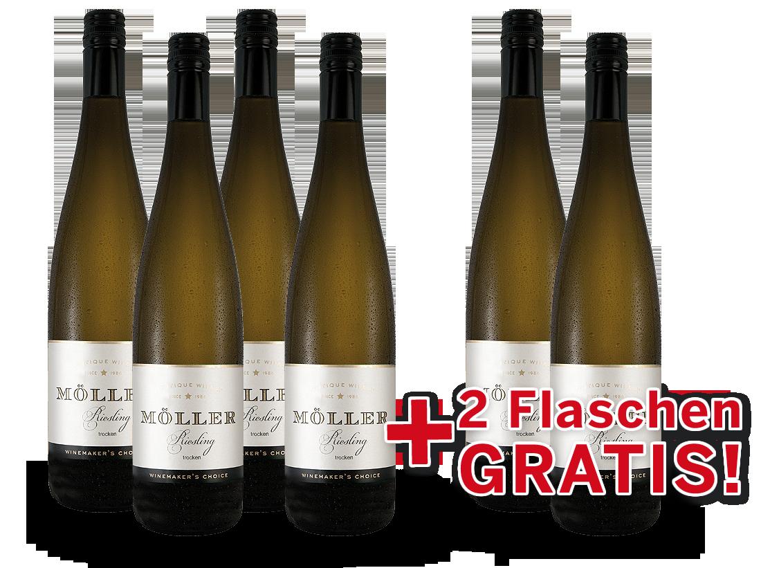 Vorteilspaket Möller Riesling 6 Flaschen davon 2 Flaschen gratis8,88? pro l