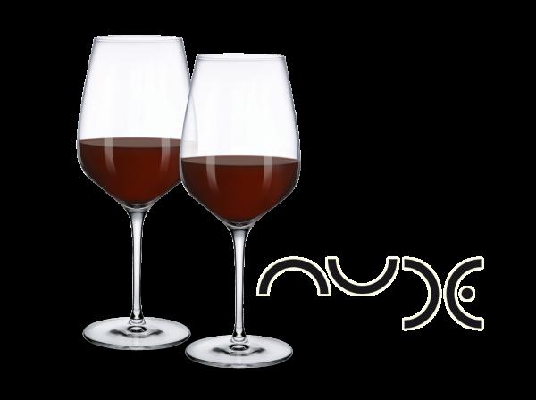 NUDE Rotwein-Gläser Refine 2er Set