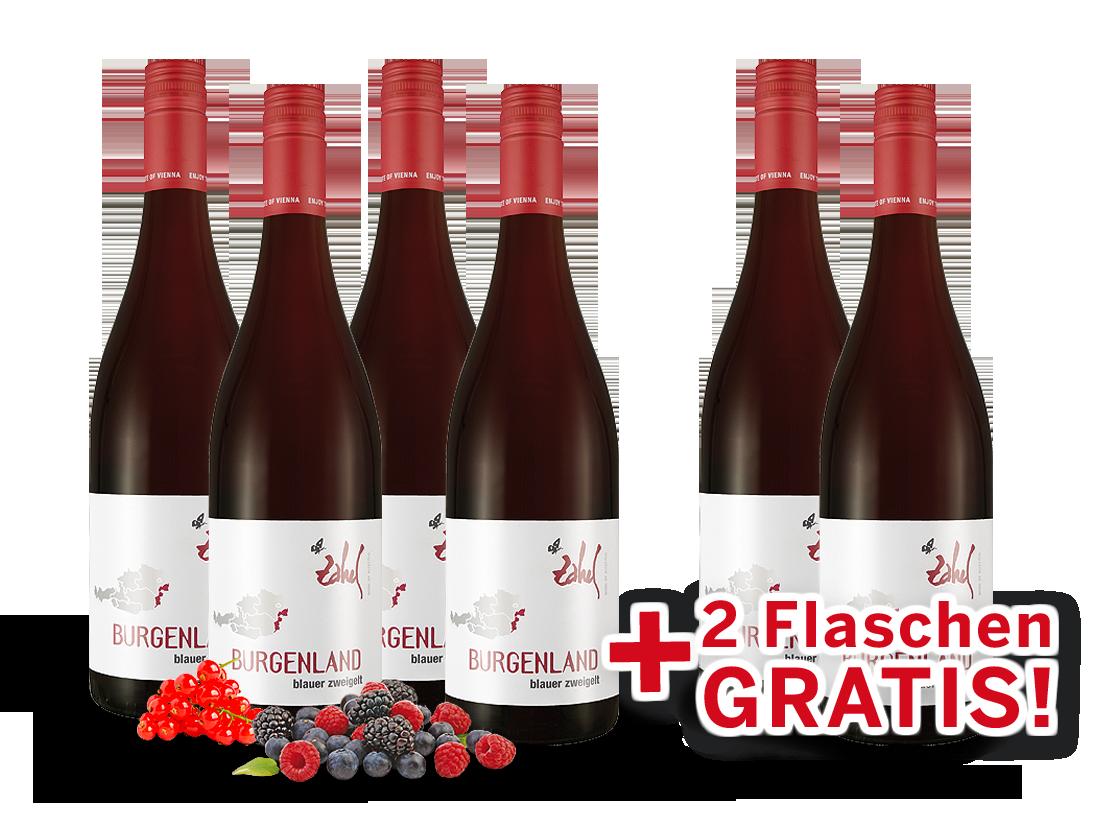 Zahel Blauer Zweigelt Rotwein-Vorteilspaket 4+29,98? pro l
