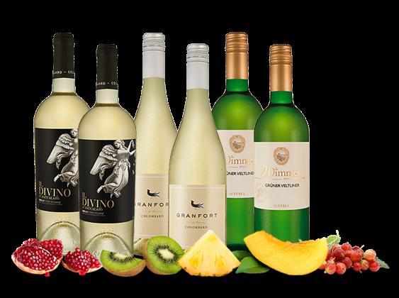 Willkommenspaket Weißwein mit 6 Flaschen