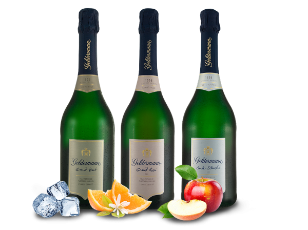 "Geldermann Sekt Probierpaket ""Les Grands"" 3 Flaschen"
