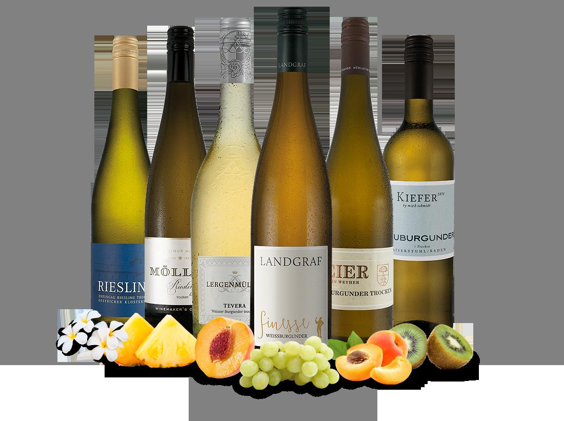 Verschiedene Probierpaket Edle deutsche Weißweine8,89€ pro l