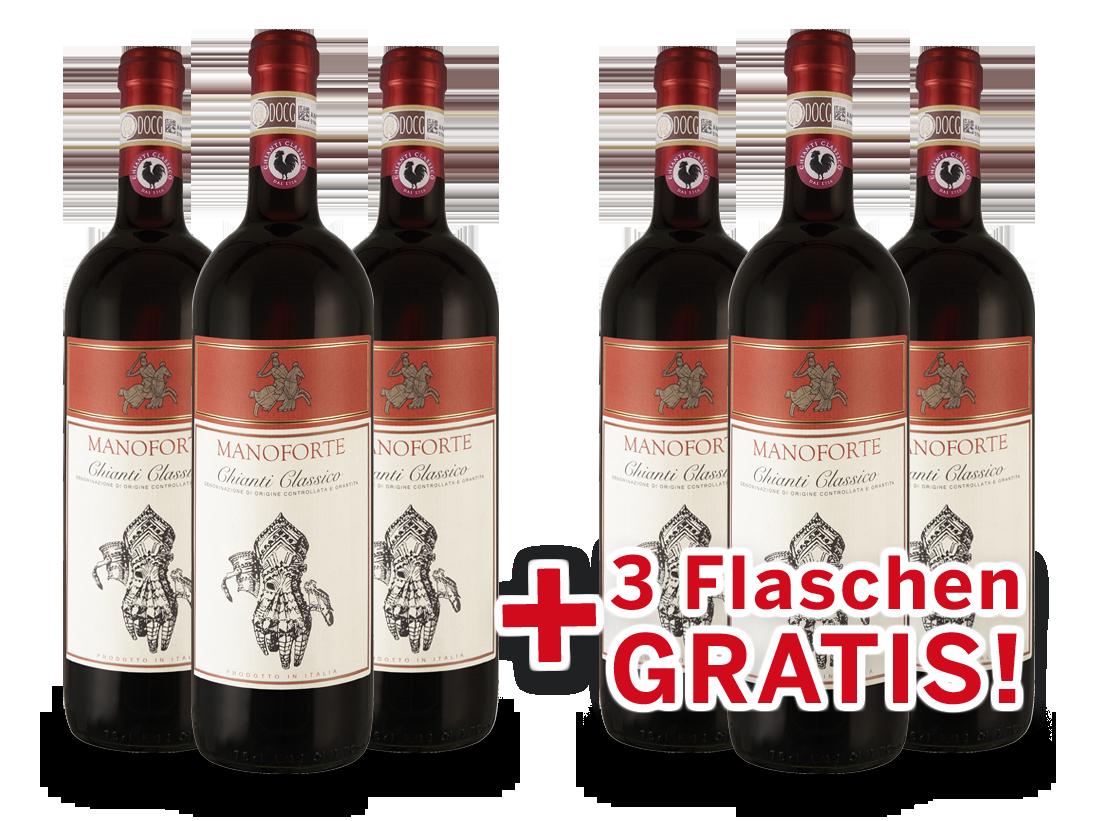 Vorteilspaket 6 für 3 Manoforte Chianti Classico11,11? pro l