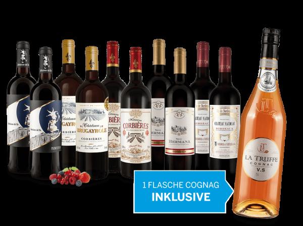 Weinspar-Paket 2017 inkl. 1 Flasche Cognac La Truffe
