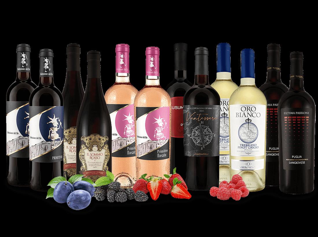 Italienisches Wein-Probierpaket XXL7,78€ pro l
