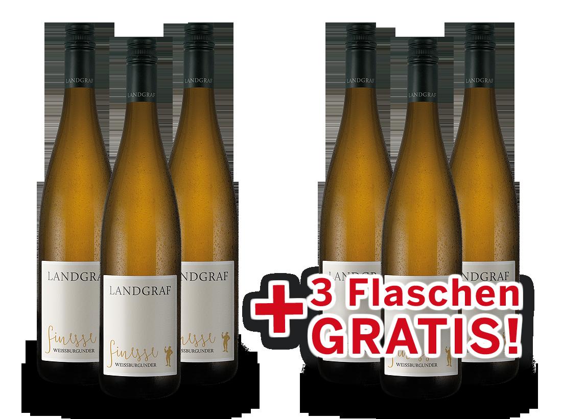 Vorteilspaket 6 für 3 Landgraf Weißburgunder Finesse9,98? pro l