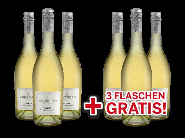 Vorteilspaket Lergenmüller TEVERA Grauburgunder 6 für 3