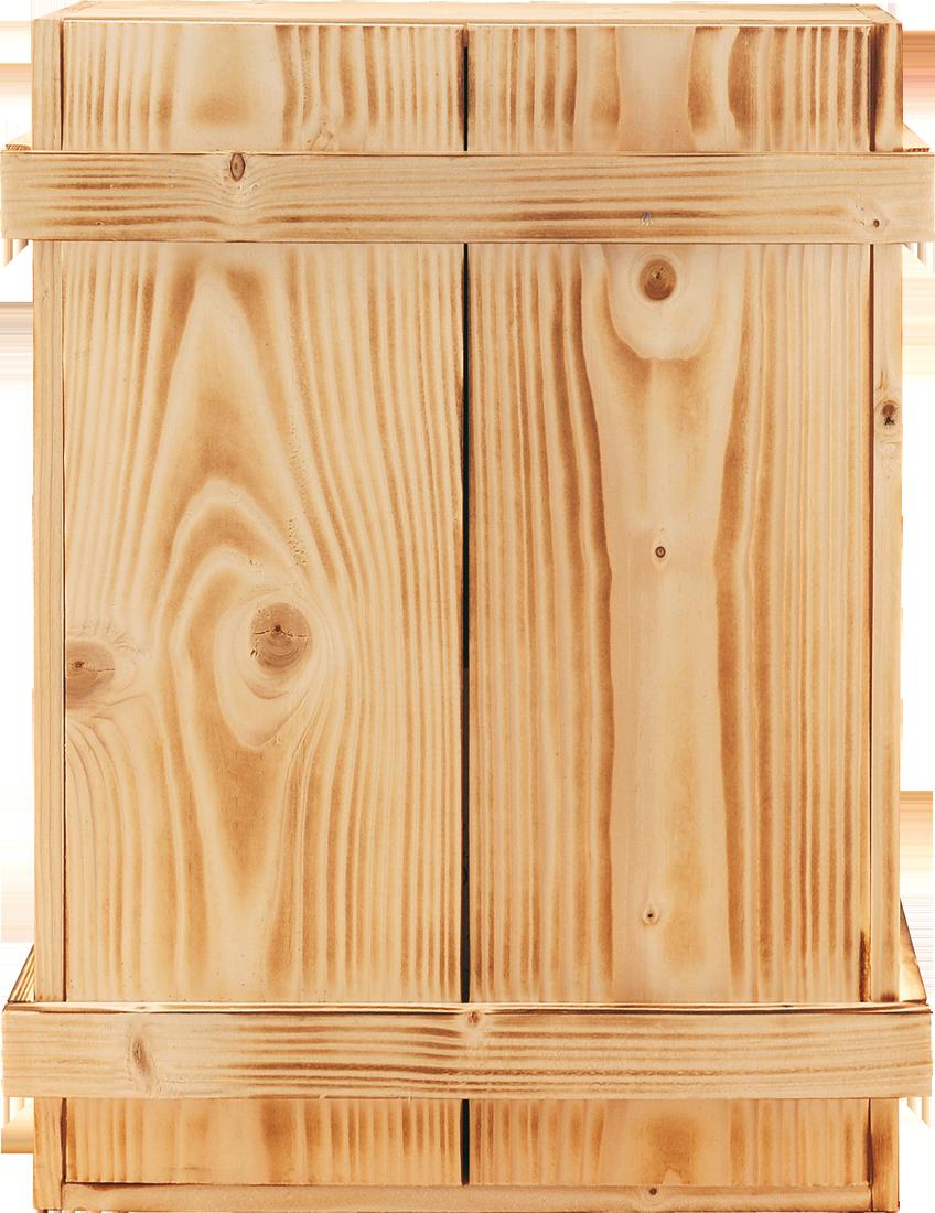 Holzkiste für 3 Flaschen geflammt