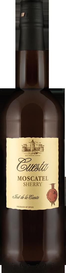 Weißwein Bodegas José de la Cuesta Sherry Moscatel 17% vol. Jerez 12,25? pro l